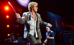 Who front man Roger Daltrey famously swings his microphone chord. (Photo by Ben Fogletto/Press of Atlantic City)